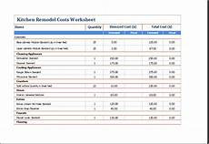 Remodeling Estimate Template Ms Excel Kitchen Remodel Costs Calculator Template Excel