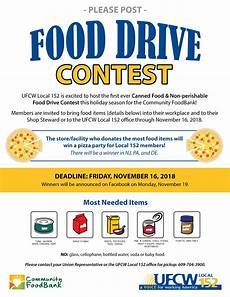 Can Food Drive Flyer Canned Food Amp Non Perishable Food Drive Contest Ufcw