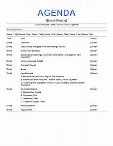 Marketing Meeting Agenda 46 Effective Meeting Agenda Templates Template Lab
