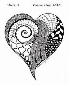 528 best zentangle hearts images on zentangle