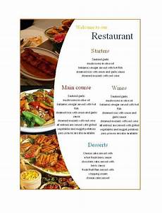 Blank Menu Templates Free 21 Free Restaurant Menu Templates Word Excel Formats