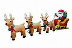 Santa Claus Reindeer Lights Bzb Goods Christmas Inflatable Santa Claus On Sleigh With
