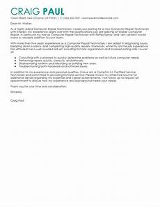 Computer Technician Cover Letter Computer Repair Technician Cover Letter Examples