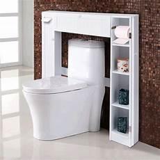 giantex wooden white shelf the toilet storage cabinet