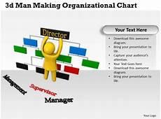 3d Organizational Chart 3d Man Making Organizational Chart Ppt Graphics Icons