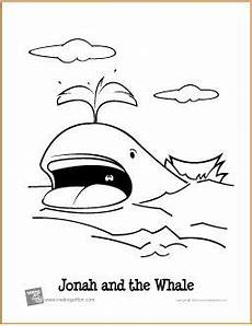 Jonah And The Whale Free Coloring Page Http