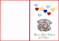 Cartes St Valentin Saint Valentin Cartes Teddy