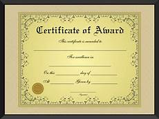 Certificates And Awards Free Golden Formal Award Certificate Template