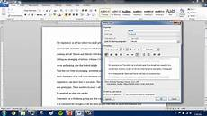 Microsoft Word Mla How To Save Mla Format In Microsoft Word Youtube