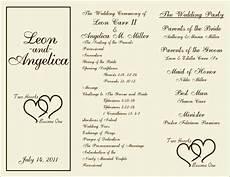 Program Template For Wedding Wedding Order Of Service Template Free Sampletemplatess
