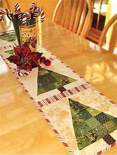patchwork tree table runner pattern to sew
