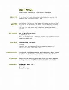 basic job resumes the ultimate list of simple free resume templates for