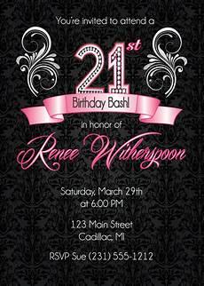 Free Digital Birthday Invitations 21st Birthday Invitation 21st Birthday Party Invitation