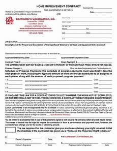 California Home Improvement Contract Custom Electronic California Home Improvement Contracts