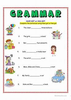 have got or has got worksheet free esl printable