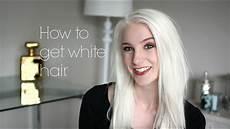 hair white how to get white hair