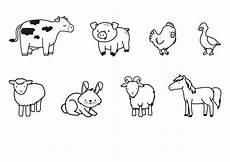 Bauernhoftiere Ausmalbilder Ausmalbild Tiere Bauernhoftiere Zum Ausmalen Kostenlos