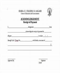 Acknowledgement Of Receipt Acknowledgement Receipt Template 11 Free Word Pdf