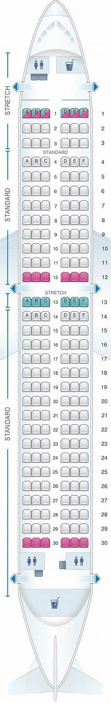 Airbus A320neo Seating Chart Seat Map Frontier Airlines Airbus A320neo Seatmaestro