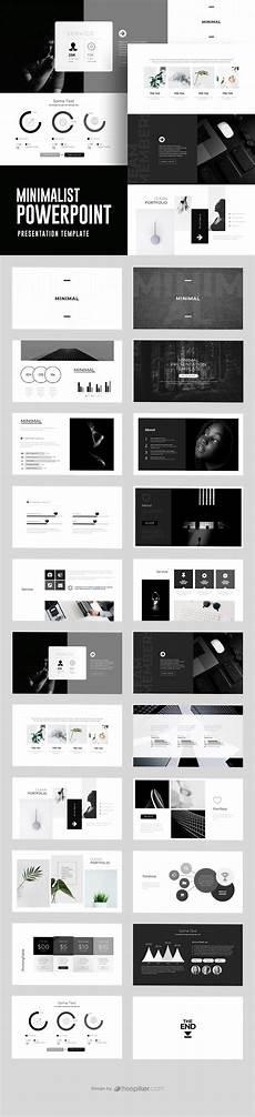 Black Powerpoint Template Freepiker Minimalist Black White Powerpoint Template
