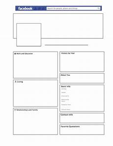 Empty Facebook Page Template Empty Facebook Profile For A Literary Character