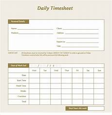 Daily Time Sheets Template Free 16 Sample Daily Timesheet Templates In Google Docs