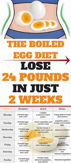 the two week boiled egg diet lose 24 pounds in less then