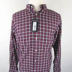 Roundtree And Yorke Size Chart Nwt Roundtree Yorke Mens Size Xl Dark Red Multi Color