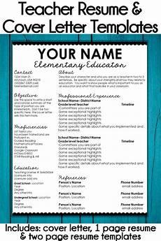 Cover Letter Teacher Template Editable Teacher Resume Template And Cover Letter Template