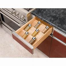 rev a shelf wood spice drawer insert reviews wayfair