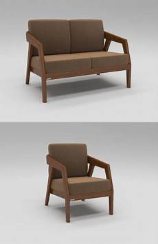 Wood Sofa 3d Image by 3d Wooden Sofa Cgtrader
