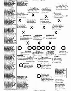 Printable Depth Charts Printables Updated 2019 Graphical Depth Chart And Roster