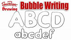 The Alphabet In Bubble Letters How To Draw Bubble Writing Youtube