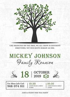 Family Reunion Flyers Templates Classic Family Reunion Invitation Design Template In Word