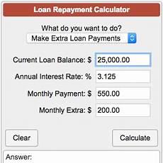 Student Loans Payment Calculator Loan Repayment Calculator