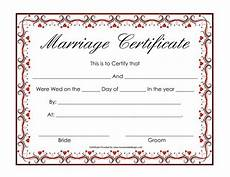 Printable Marriage Certificate Certificate Templates Sample Marriage Certificates