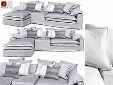 Small Grey Sofa 3d Image by Jan New Sofa By Linteloo Grey 3d Cgtrader