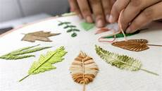 embroidery leaves embroidery for beginners 10 types of leaves