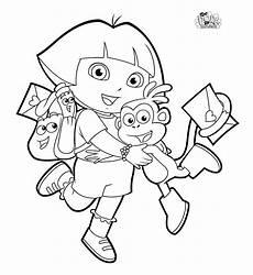 Dora Coloring Pages Dora Coloring Pages Kidsuki