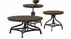539 96 industry place cherry adjustable 3 pc table set