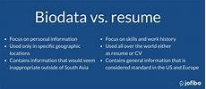 Resume And Biodata Difference Biodata Resume Format Guide Amp Examples Jofibo
