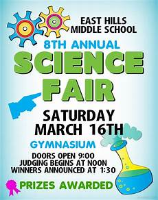 Science Fair Banner Template Make A Science Fair Project Poster Ideas Middle School