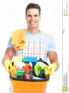 Cleaning Pic Man Cleaner Stock Photo Image Of Brush Mess Service