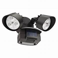 Outdoor Led Motion Sensor Light Home Depot Lithonia Lighting Twin Head Bronze Motion Sensing Outdoor