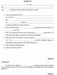 Affidavit For No Objection Certificate Delhi Marriage Certificate Procedure And Charges
