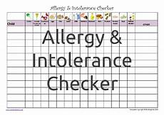 Allergy Chart For Child Care Teaching Is Fun