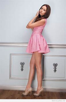 What Color Heels With Light Pink Dress Wonderful Short Pink Dress And High Heels
