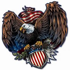 Allen Eagle Designs Quot Eagle And U S Shield Quot Metal Sign Pin Ups For Vets Store