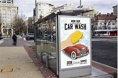 Bus Stop Poster Template Car Wash Bus Stop Ad Poster Template