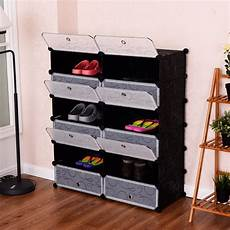 giantex 12 cubic portable shoe rack shelf modern